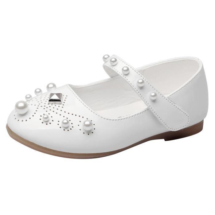 EOZY Ballerines Chaussures Princesse avec Perle Antidérapant pour Fille Enfant Ea01j9