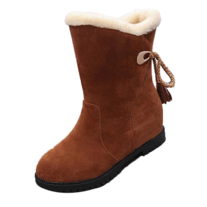 Bottes de neige pour femmes chaussures d'hiver jaune a5r6JqLoei