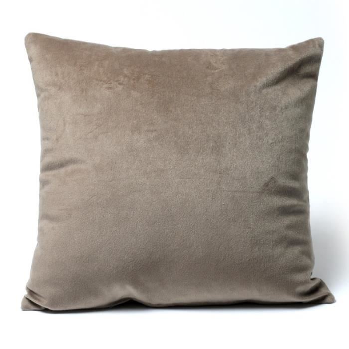 Housse coussin velours 40 x 40 cm Velours taupe   Achat / Vente