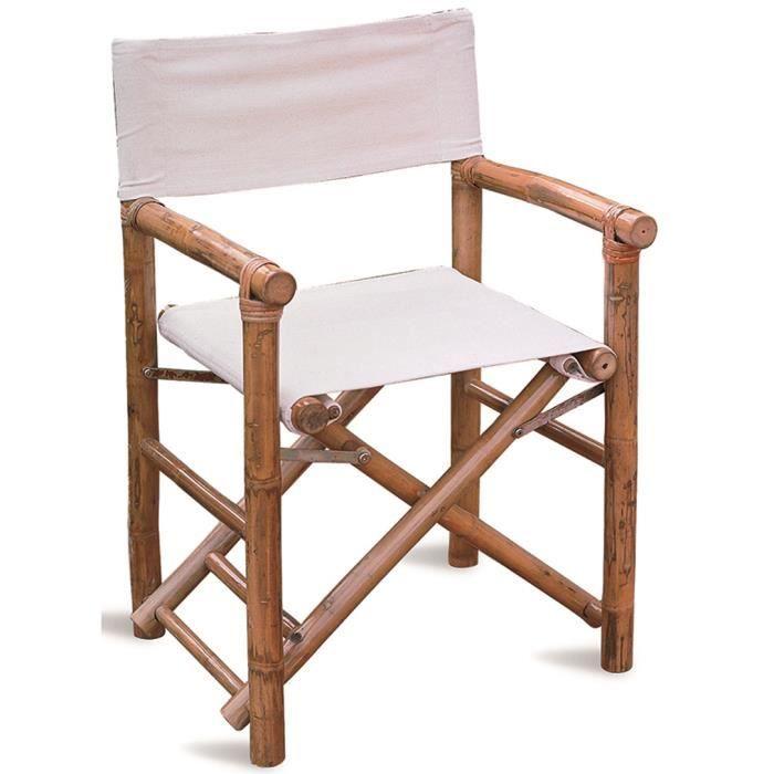 Chaise De Jardin En Bambou Coloris Chêne Dim H X L P Cm - Fauteuil bambou