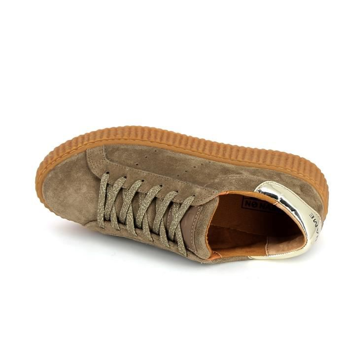 Basket -mode - Sneakers NO NAME Picadilly Beige Or