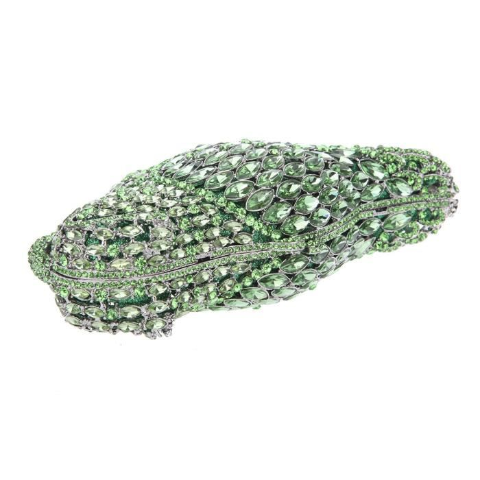 Crystal Parrot Clutch Purses For Evening Bag KXX6F