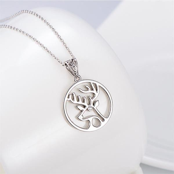 Glamorousky Pendentif en argent sterling 925 avec élément autrichien Cristal et collier (24232)