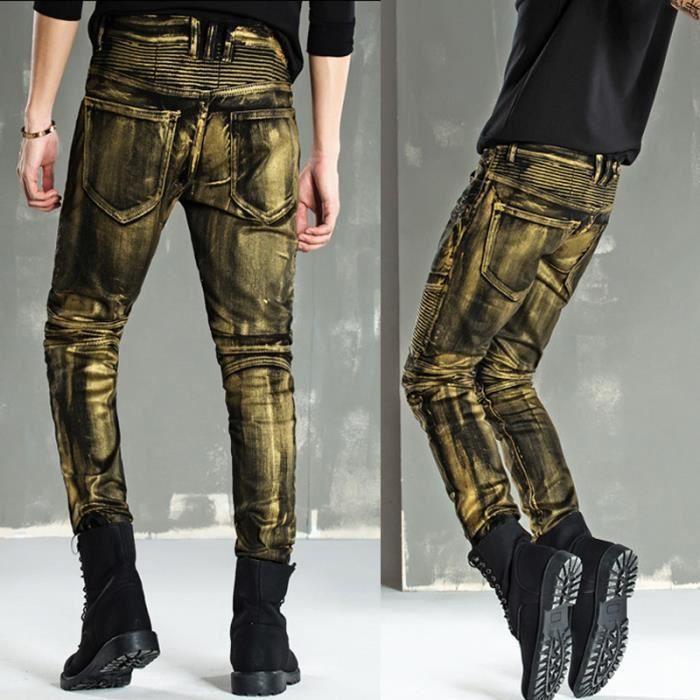 3be10c1f1e9 Jeans Homme Jeans 2018 S-S Jeans rétro mode Jeans Hommes