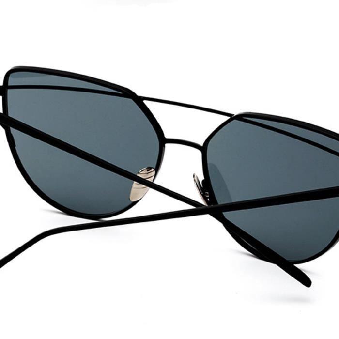 ... Lunettes de soleil femme de Fashion en Métal Cadre sunglasses marque de  Luxe Argent Jaune 5d24c0621fa9
