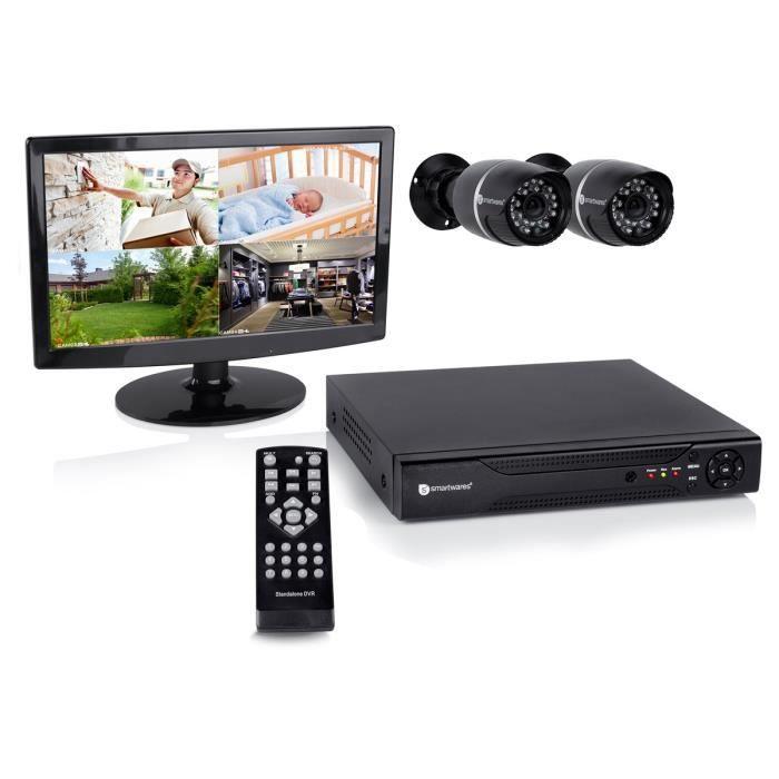 camera de surveillance filaire avec ecran