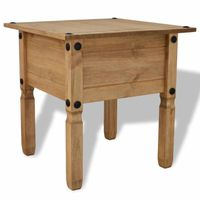 TABLE BASSE Table d'appoint Pin mexicain Gamme Corona 53,5 x 5