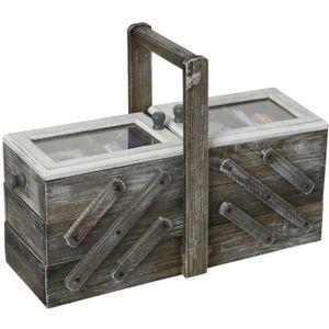 BOITE A COUTURE Boîte à couture en bois Escalier - 43 x 28 cm - Gr