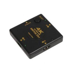 CÂBLE TV - VIDÉO - SON Version square - < =0.5m -  Mini 3 Ports Commut