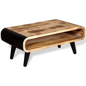 table bois brut achat vente pas cher. Black Bedroom Furniture Sets. Home Design Ideas
