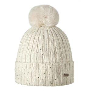 BONNET - CAGOULE BARTS - Bonnet blanc ivoire pompon imitation fo. ee015a50593
