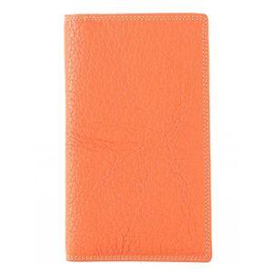 TOUT EN UN Portefeuille, Tout en un Cuir Femme (Orange - TU)