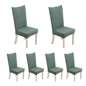CHAISE 6 pcs Housse de chaise extensible en maille de cot