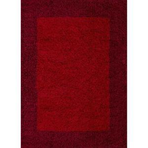 tapis life tapis de salon shaggy 200x290 cm bordeaux - Tapis De Salon Rouge