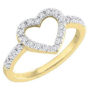 BAGUE - ANNEAU Bague Femme Diamants 0.18 ct 750-1000  18 ct 750-1