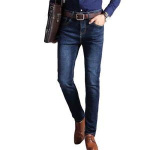 Jeans Loisir bleu Noir Homme Hommes A Mode Slim Délavé Jeans La thQsrd