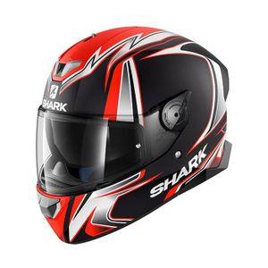 5d12668f190f0 CASQUE MOTO SCOOTER Casque moto Shark Skwal 2 Sykes Matt Noir Blanc Or
