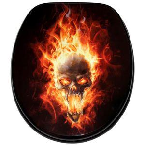ABATTANT WC Abattant WC frein de chute soft close Crâne enflam