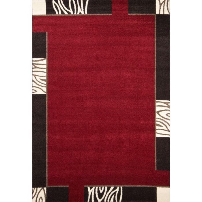 Mondo tapis de salon rouge - Achat / Vente pas cher
