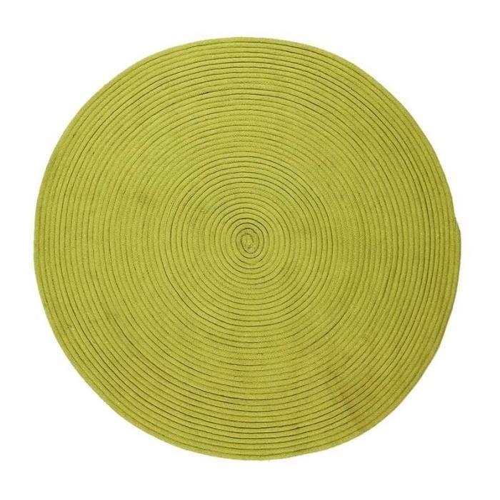 En coton - 120 cm - Anis - Réversible et facile d'entretienTAPIS - DESSOUS DE TAPIS