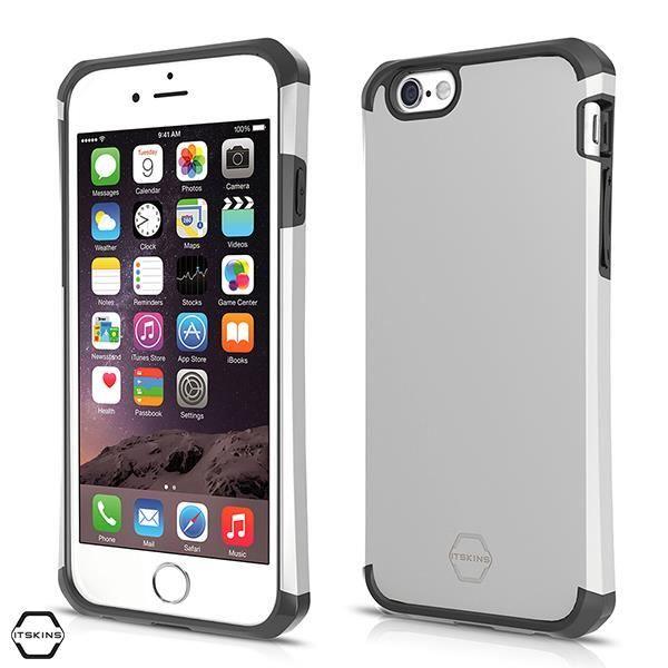 IT SKINS Coque arrière évolution metallic - iPhone 6+ - Argent