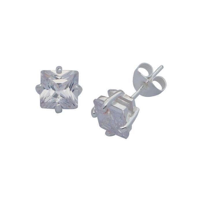 Boucles Doreille Femme - E-11698 - Argent Sterling 3 Gr - Oxyde De Zirconium RCCEW