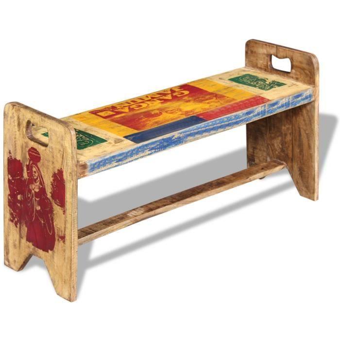 coffre banc bois achat vente coffre banc bois pas cher cdiscount. Black Bedroom Furniture Sets. Home Design Ideas