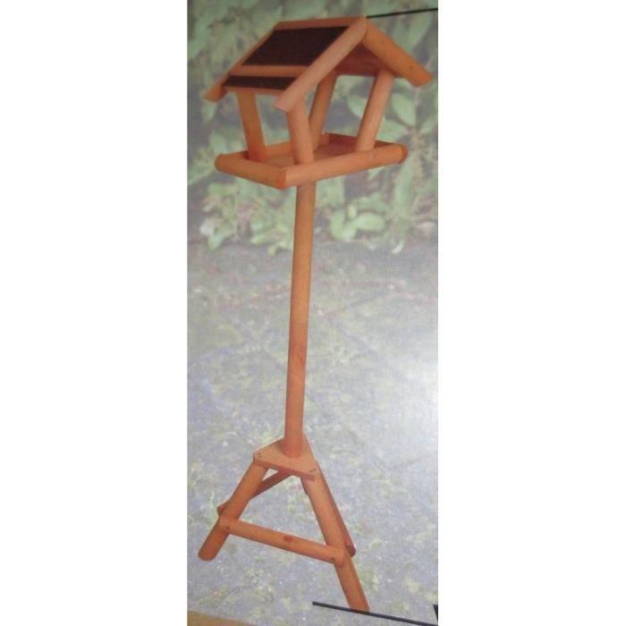mangeoire nichoir en bois sur pied oiseau d corati achat vente mangeoire tr mie mangeoire. Black Bedroom Furniture Sets. Home Design Ideas