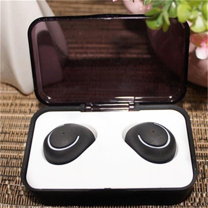 Noir Bluetooth Headset Authentique Binaam Mini Casque D'écoute Gauche Et Droit