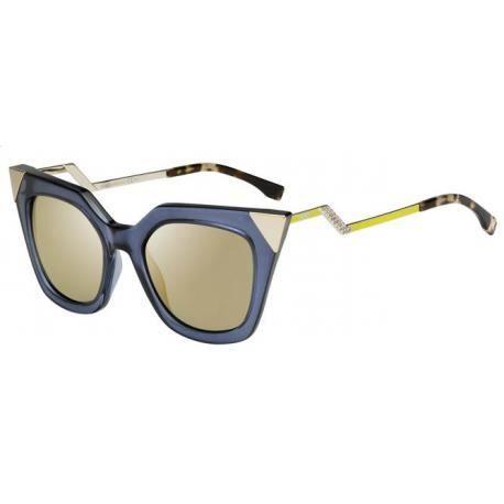 Achetez Lunettes de soleil Fendi Femme FF 0060/S MSU (MV) bleues grises dorées