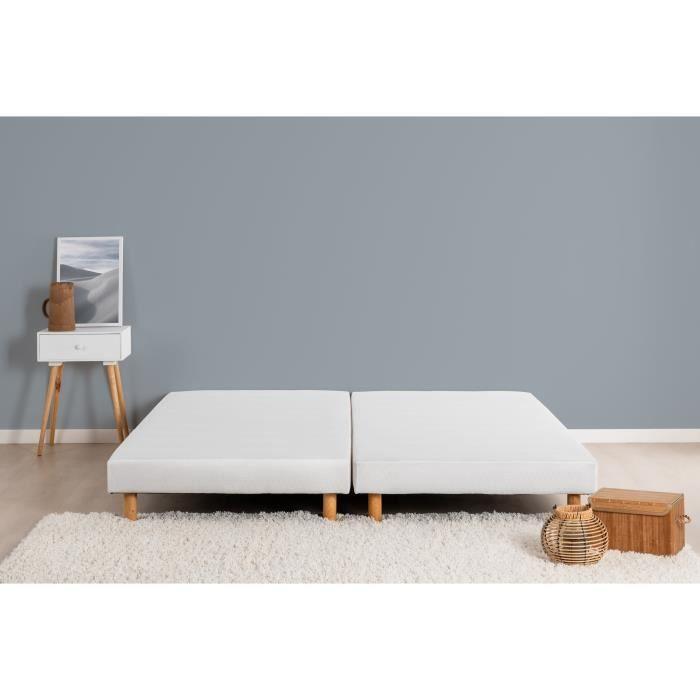 SOMMIER Sommiers tapissiers à lattes x 2 - 180 x 200 - Boi