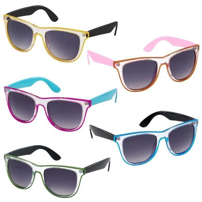 Lunettes de soleil Fashion Style Blues Brothers - Rose/bleu