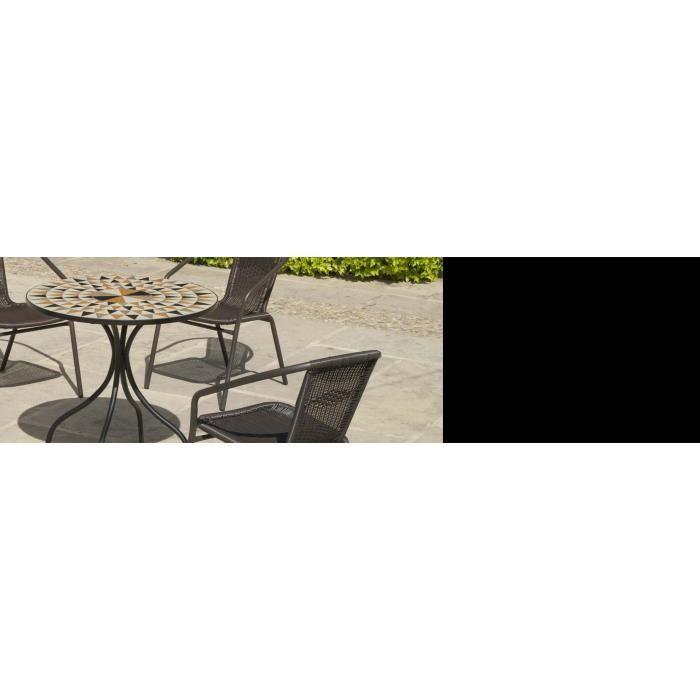 Salon de jardin table ronde mosaïque Albir Brasil - Achat / Vente ...