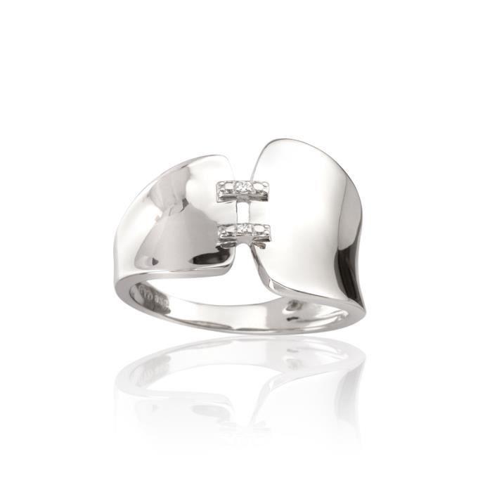 Bague CLEOR Argent 925/1000 Diamants