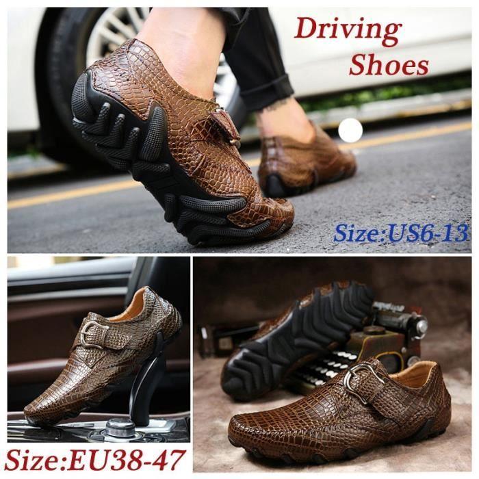 chaussures multisport Homme Printemps AutomneFlats Slip sur Snekers marron taille8.5 XGR5sz