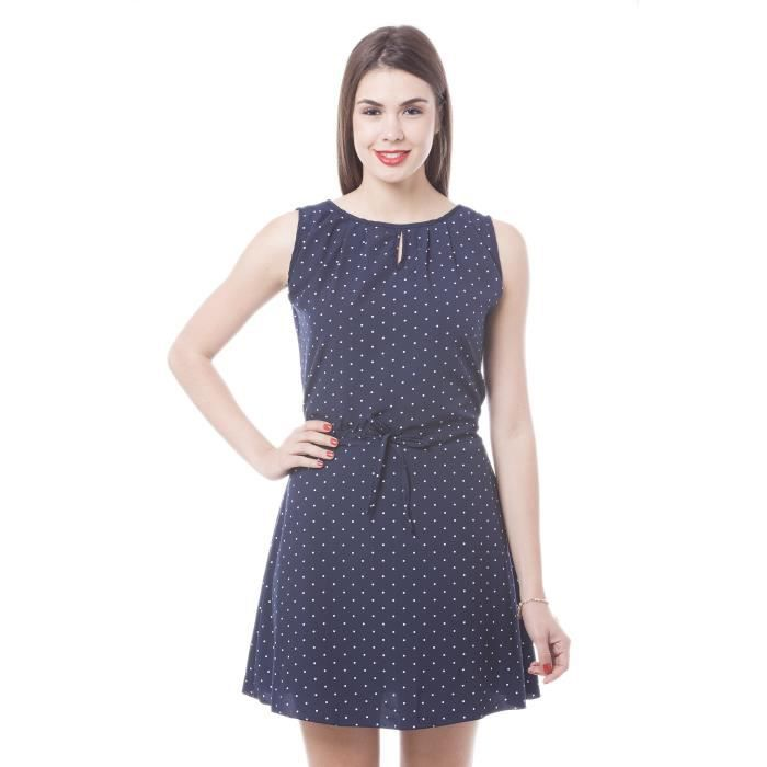 Womens Navy Polka Dot Printed Tailored Dress KWWCV Taille-38