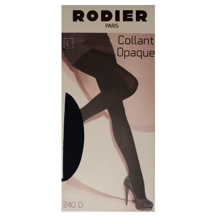 RODIER PARIS collant opaque 240d gris noir ou bleu marine Gris Gris ... 334cd4ece2e