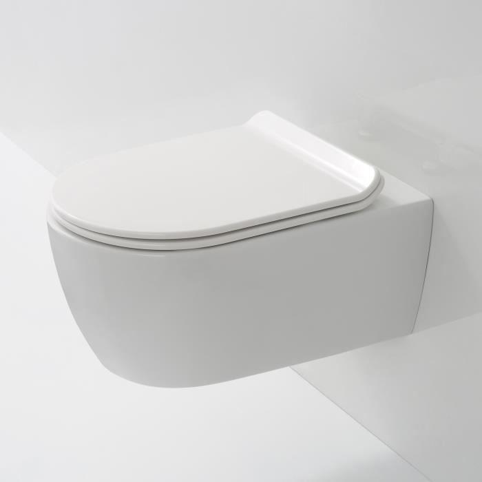 wc suspendu sans bride saneo achat vente cuvette wc seule wc suspendu sans bride saneo. Black Bedroom Furniture Sets. Home Design Ideas