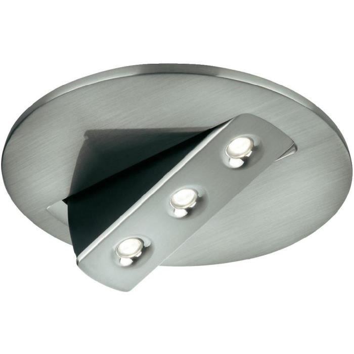Belle SKYON - Spot encastrable LED Nickel Ø12,5cm OFF - Achat / Vente GS-59
