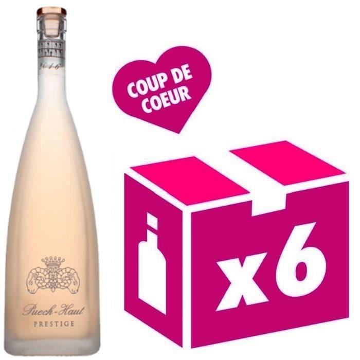 VIN ROSÉ Château Puech Haut - Prestige Rosé 6 x 75 CL