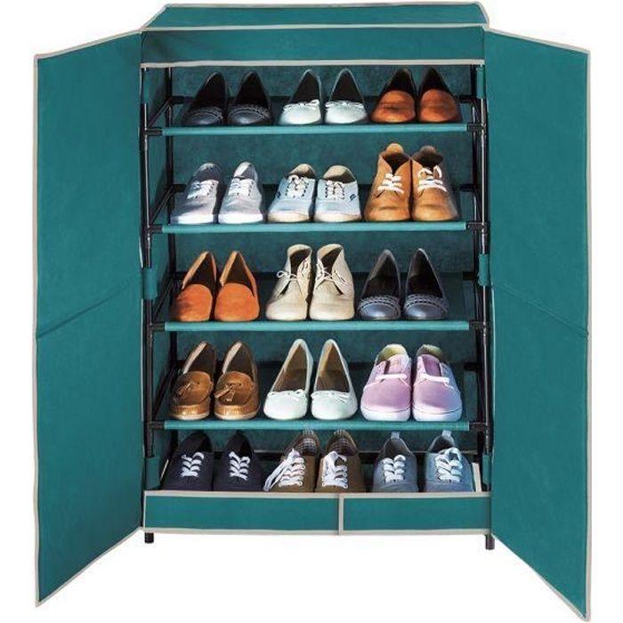 armoire chaussures en tissus 15 paires 61 x 90 cm. Black Bedroom Furniture Sets. Home Design Ideas