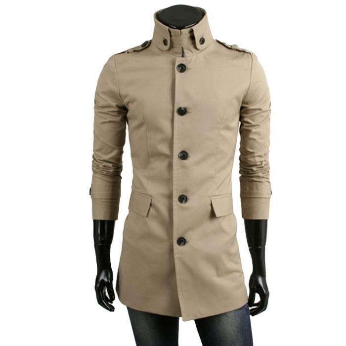 Pardessus Outwear Smart Chaude D'hiver Trench Veste Long Rw5381 Button nFx0p6Cqw