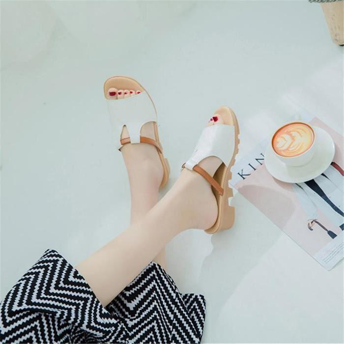 sandales femmes plat d'été de la mode de la nouvelle coréen imperméable à la bouche poisson