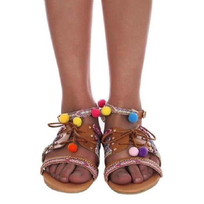 marque H dame rétro en cuir souple 4 sandales couleur chaussures Lele pantoufles chaussures d'or noir argent blanc,noir,37