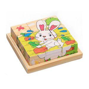 PUZZLE Belle animal Cartoon Puzzle en bois enfants Jouets