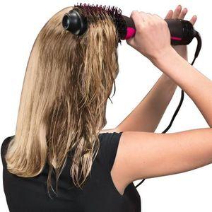 BROSSE SOUFFLANTE Brosse chauffante multifonctions cheveux bouclés c