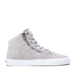 BASKET Chaussures SUPRA WOMENS CUTTLER Grey white