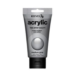 PEINTURE ACRYLIQUE Reeves Tube De Peinture Acrylique 75 Ml - Gris Tai c16b01be026