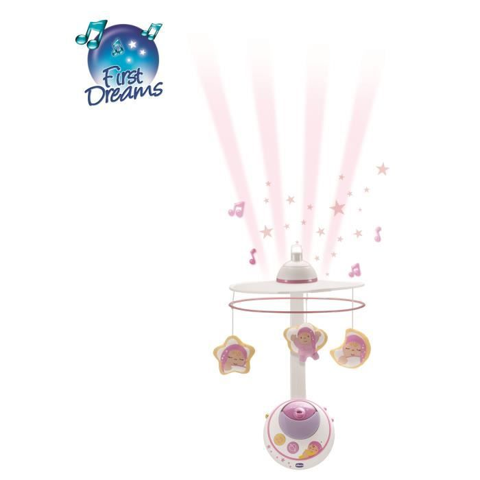 chicco mobile double projection rose first dreams rose first dreams