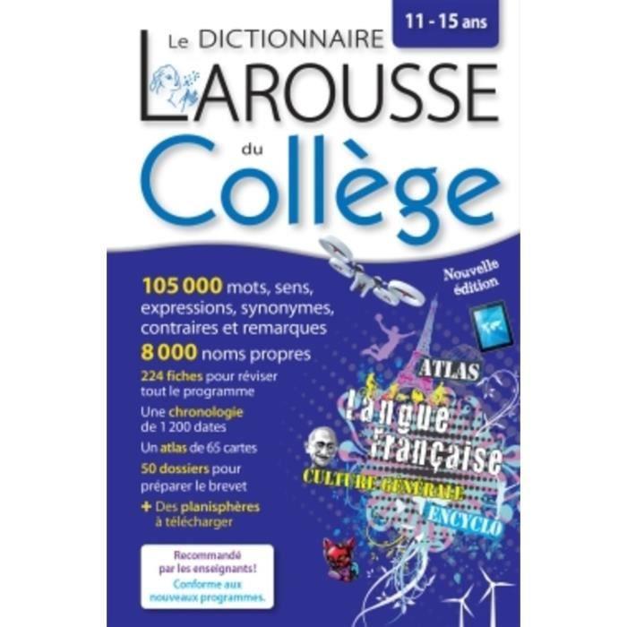 Le Dictionnaire Larousse Du College 11 15 Ans Achat Vente